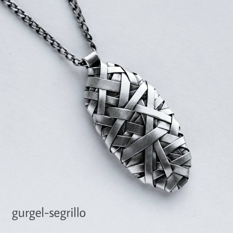 silver handcrafted pendant jewellery design by gurgel-segrillo