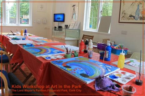 Childrens workshops at art in the park cork workshops with patricia